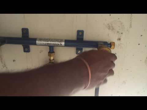عملية تركيب بيبات للغاز للطبخ مع المهندس سالم البرواني Cooking gas pipes